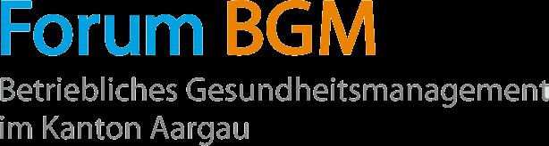 Logo BGM – Betriebliches Gesundheitsmanagement im Kanton Aargau